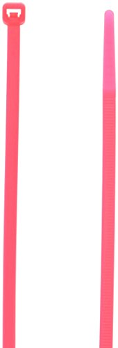 Morris 20626 Fluorescent Nylon Cable Tie with 50-Pound Tensile Strength, 8-Inch Length, Pink, 100-Pack