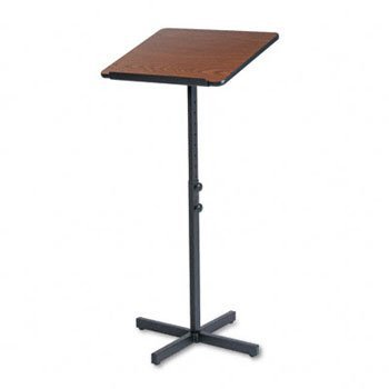 Speaker Lectern Stand (Safco® Speaker Stand with Height and Tilt Adjustability LECTERN,ADJ. SPEAKER,MOK T088220 (Pack of2))