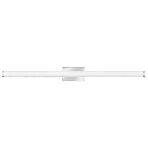 Lithonia Lighting Contemporary Square 3K LED Vanity Light, 4-Foot, Chrome (4 Light Scroll)