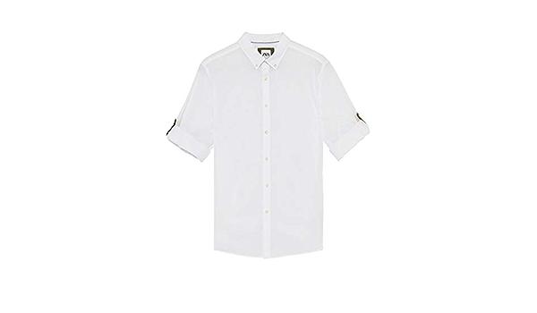 Zara 6048/400/250 - Camisa para Hombre (Manga Larga) Blanco ...