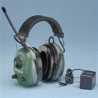 Electronic Ear Muff, 22dB, Over-the-H, Grn
