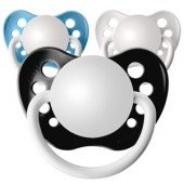 3 Personalized Pacifiers Orthodontic Pacifier Light Blue Baby Shower Gift