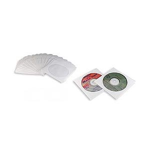 CD DVD White Paper Sleeves with Clear Window 2000 ()