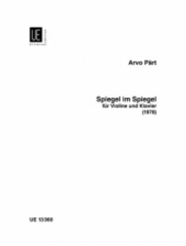 Price comparison product image Spiegel im Spiegel for Violin and Piano: UE13360