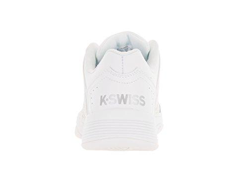 K-Swiss Women's Court Impact LTR White/Silver Tennis Shoe 8.5 Women US