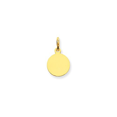 ICE CARATS 14kt Yellow Gold Plain .018 Gauge Circular Engravable Disc Pendant Charm Necklace Round Fine Jewelry Ideal Gifts For Women Gift Set From Heart Pendant 14kt Yellow Gold Jewelry