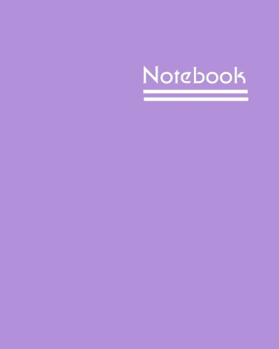 Notebook: Unlined Notebook - Large (8 x 10 inches) - 150 Pages - Lilac Cover
