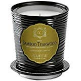 Aquiesse Large Scented Soy Candle Tin Bamboo Teakwood 11oz Approx 100 Hour ()