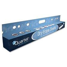 Dry-Erase Sheets, Tear Off Shts, 40ft RL, 15 SHT/RL, White, Sold as 1 Each, 15 Each per Each