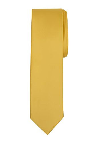 - Jacob Alexander Boy's Regular Self Tie Prep Solid Color Necktie - Canary
