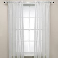 Gorgeous Home 2PCS WHITE SOLID SOFT VOILE SHEER WINDOW CURTAIN PANELS ROD POCKETS DRAPES 54″ WIDE X 63″ LONG (EACH PANEL)