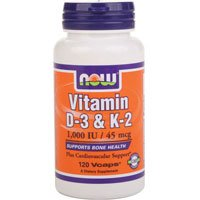 Now Foods Vitamin D-3 and K-2 - 120 Vcaps ( Multi-Pack)