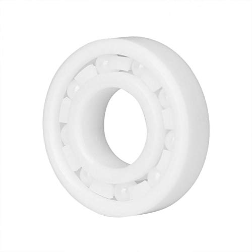 Fevas New 10x22x6 Mm Standardization 6900 White Zro2 Ball Bearing High Accurate Full Ceramic Bearings Roller - (Number of Pcs: 1, Color: White)