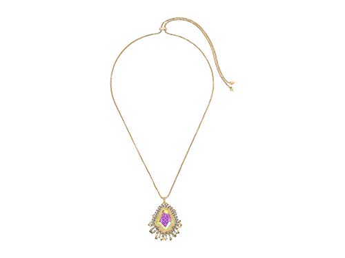 - Kendra Scott Daenerys Long Pendant Necklace in Dichroic Glass (Gold)
