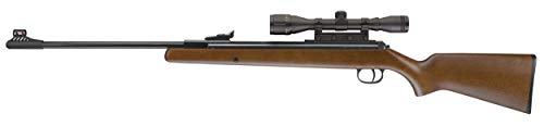 Diana RWS Model 34 Break Barrel Hardwood Stock Pellet Gun Air Rifle, .22 Caliber, Gun with 4x32mm Scope