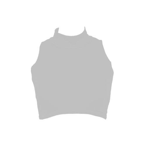 Nuevo top corto para mujer de cuello vuelto sin mangas, camiseta cortada, tallas 36, 38, 40, 42 gris