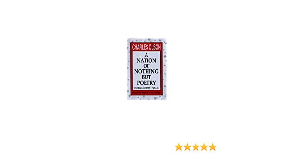 Amazon com: A Nation of Nothing But Poetry: Supplementary Poems
