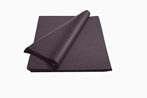 Crown 480 Sheets Bulk Pack Black Tissue Paper Gift Wrap – Ream of Paper – 15 inch. x 20 inch. Wrapping Tissue Paper – for Scrapbooking Paper, Art n Crafts, Wrapping Christmas Gifts and More!!