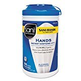 Sani Professional P92084 Sani-Hands 300 Ct. Hand Wipes - 6 / CS by BUNZL