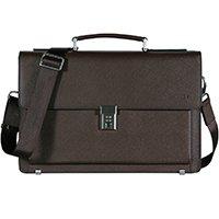 Banuce Vintage Leather Tote Briefcase for Men Business Messenger 14 inch Laptop Bag by Banuce (Image #1)
