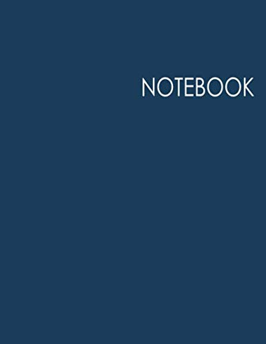 Notebook: Minimalist Journal: 100 Pages of Lined Large (8.5x11) Pages for Writing and Drawing-Blue Cover