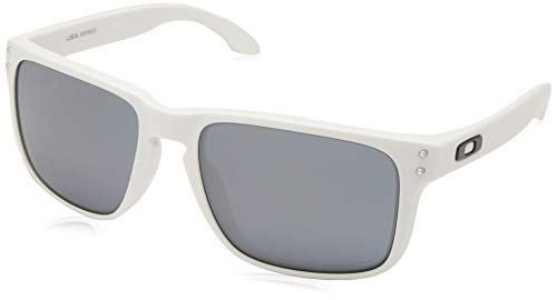 Oakley Men's OO9417 Holbrook XL Square Sunglasses, Matte White/Prizm Black, 59 ()
