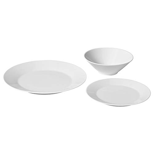 IKEA 403.411.01 18-Piece Dinnerware Set, White