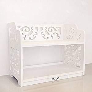 (Revesun DIY Multi-Use Wooden-Plastic PVC Table Ladies Makeup Cosmetics Boxes Bookshelf and Kitchen Shelf White)