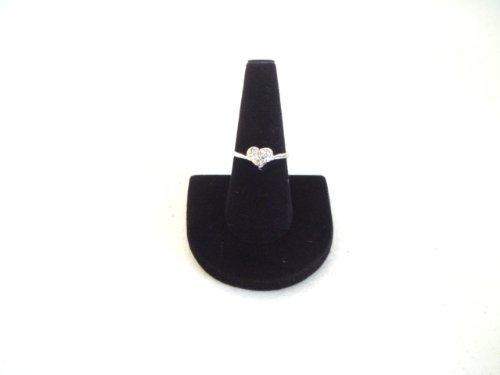 1-X-5-Black-Velvet-Ring-Finger-Jewelry-Holder-Showcase-Display-Stands