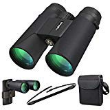 Kylietech 12X42 Binoculars with Phone Adapter Professional HD Compact Waterproof and Fogproof Telescope Sports-BAK4 Prism FMC Lens for Bird Watching Hiking Stargazing Hunting Concert with Carrying Bag