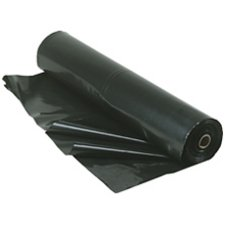 Berry Plastics Film-Gard Plastic Polyethylene Sheeting 4 Mil, Black, 3' x 50'