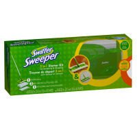 Swiffer Starter Kit - Sweeper with 8 Cloths Kit (Pack of 9)