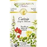 Celebration Herbals Organic Catnip Leaf and Blossom Tea Caffeine Free -- 24 Herbal Tea Bags