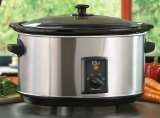 Elite Gourmet MST-800V MaxiMatic Large 8-1/2-Quart Slow Cooker, Stainless