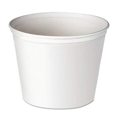 - SCC10T3U - Double Wrapped Paper Bucket, Waxed, White, 165 Oz