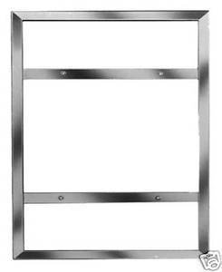 "Commercial Grade, Professional Slide-In Wall Mount Bulletin Poster Holder Frame in Chrome, for 22"" x 28"" Inch Insert"