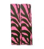 - Pink Zebra Tiger Animal Print Shoulder Seat Belt Pads - Pair