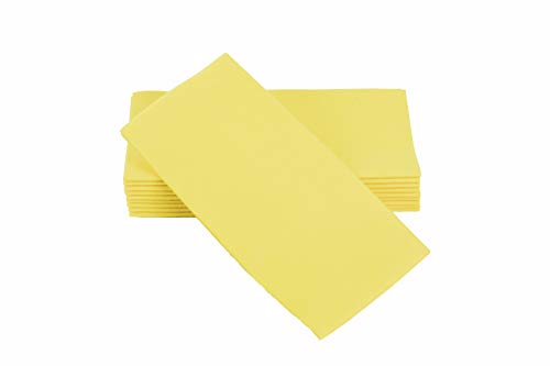 (Simulinen Dinner Napkins - Disposable, Yellow, Cloth-Like - Elegant & Heavy Duty, Soft & Absorbent, Like Paper but Better! 16