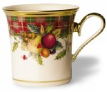 Lenox Holiday Tartan Gold Banded Ivory China Accent (Lenox Holiday Ribbon)