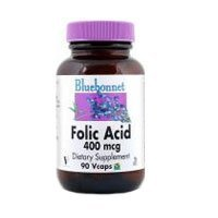 Folic Acid, 400 Mcg, 90VC by Bluebonnet Nutrition (Pack of 2)