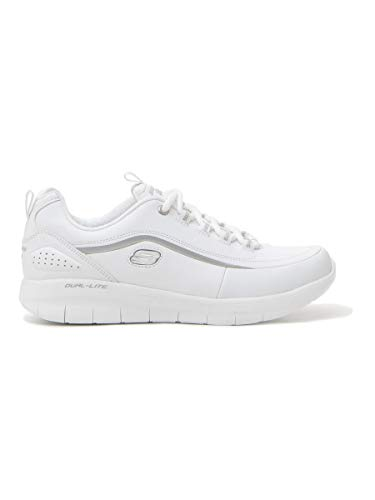 Bianco Pour Baskets Argento White Silver Femme Skechers CX4wqOw