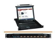 "Tripp Lite B020-008-17 8 Port KVM Switch 17"" LCD"