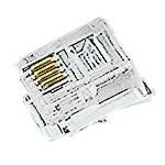 "Adam Tech MTP-64-U Connector, RJ-11 Modular Plug, PL 6 Position, Straight Cable Mount, 4 Terminal, 1 Port, 0.49"" L x 0.38"" W x 0.26"" H (Pack of 30)"