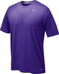Nike Mens Athletic Active Dri-Fit Tee Shirt Large Purple (Mens Shirt Athletic)