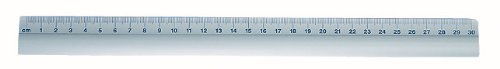Wedo 525331 Lineal aus Aluminium mit rutschsicherer Gummieinlage, 30 cm, silber