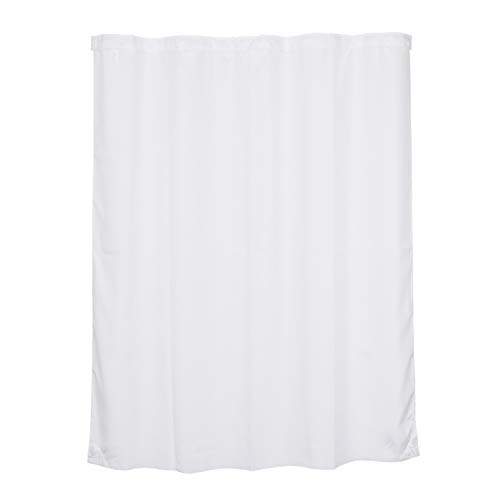 Fabric Dreams - Snap in Fabric Shower Curtain Liner Replacement 70 x 84 Inches, White,with Magnets, Fit with River Dream 71 x 86 Extra Long No Window Shower Curtain