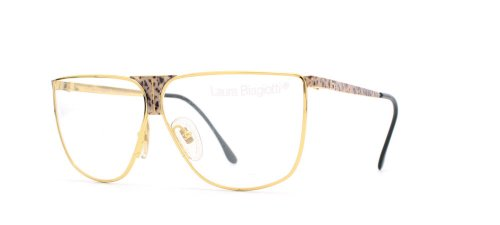 Laura Biagiotti V90 10E Black and Gold Authentic Women Vintage Eyeglasses ()