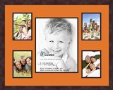 Art to Frames Double-Multimat-683-712/89-FRBW26061 Collage Frame Photo Mat Double Mat with 4 - 5x7 and 1 - 11x14 Openings and Espresso (Opening Espresso Frame)