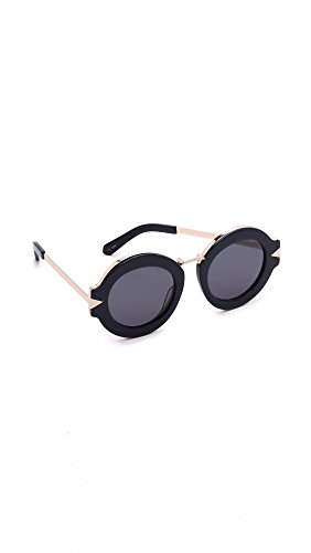 Karen Walker Women's Maze Sunglasses, Navy Gold/Navy Mono, One Size