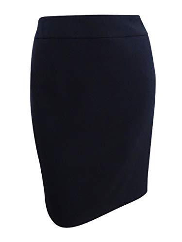 Kasper Women's Petite Size Stretch Crepe Yoke Skirt, Black 16